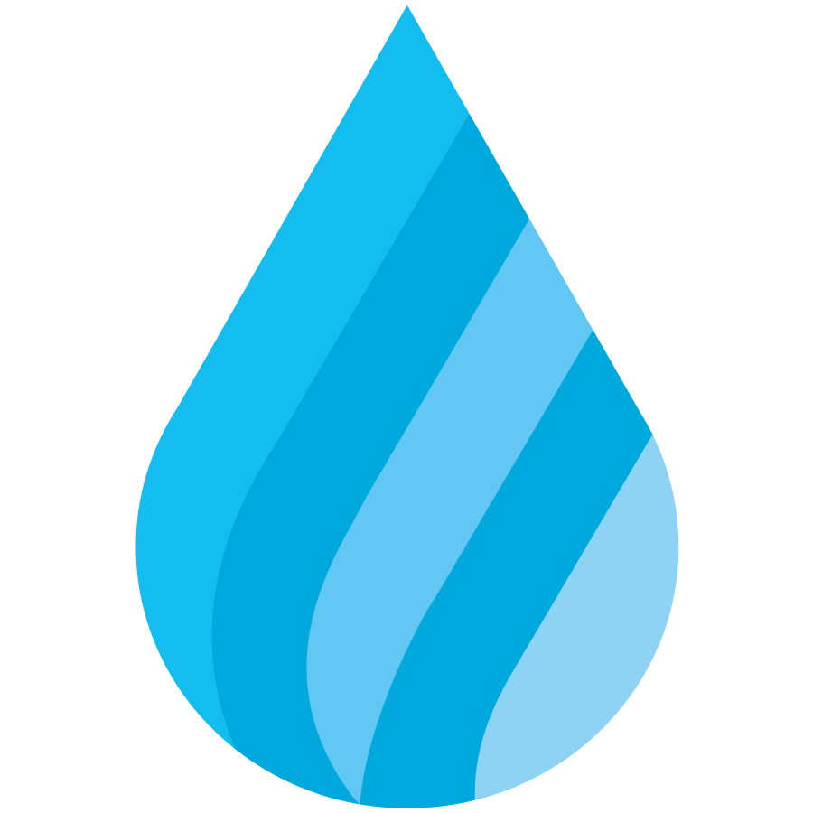 School Funding icon with blue spectrum colors in a raindrop